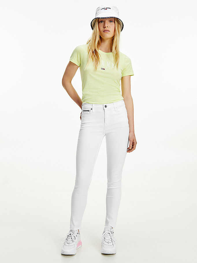denim nora mid rise skinny white ankle jeans for women tommy jeans
