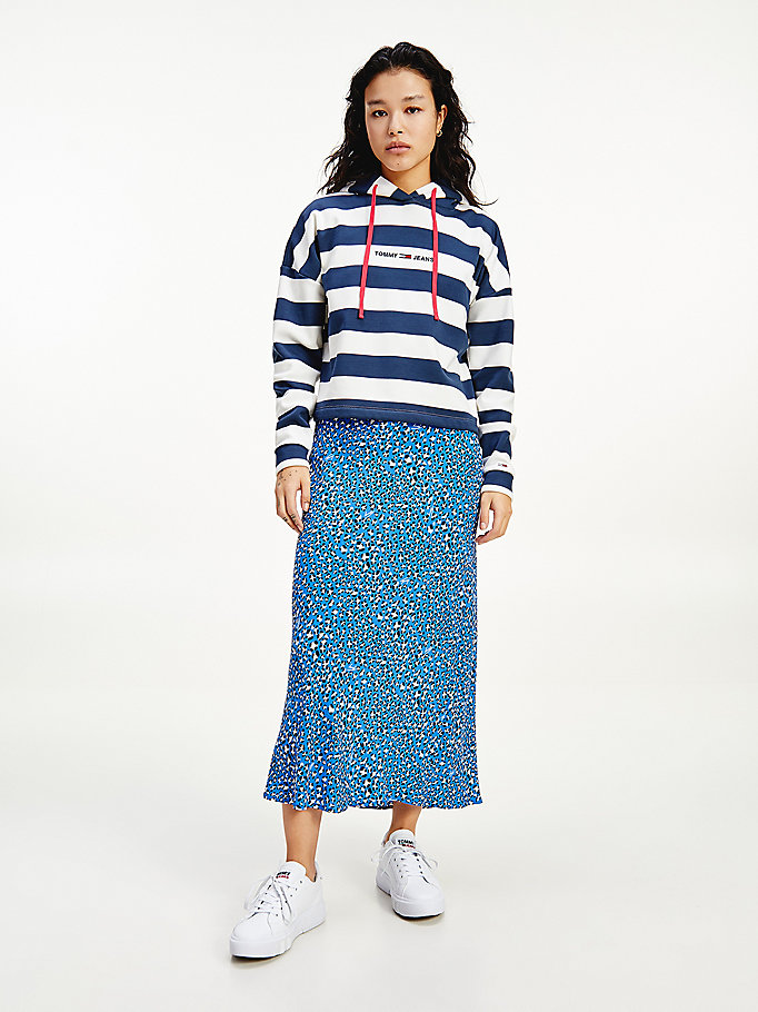 blue tjw bxy stripe hoodie for women tommy jeans