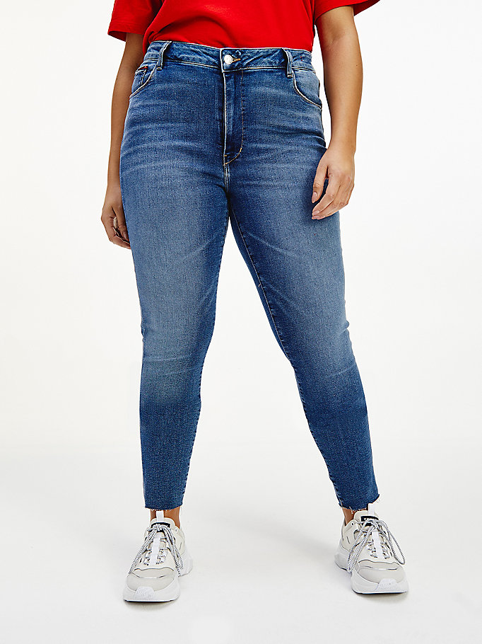 denim curve sylvia high rise superskinny jeans voor women - tommy jeans
