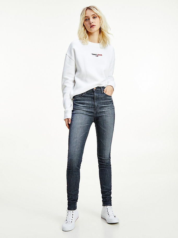 denim sylvia high rise super skinny jeans for women tommy jeans