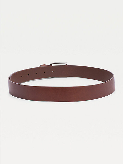 TOMMY HILFIGER Denton Rounded Buckle Leather Belt - DARK TAN - TOMMY HILFIGER Belts - detail image 1