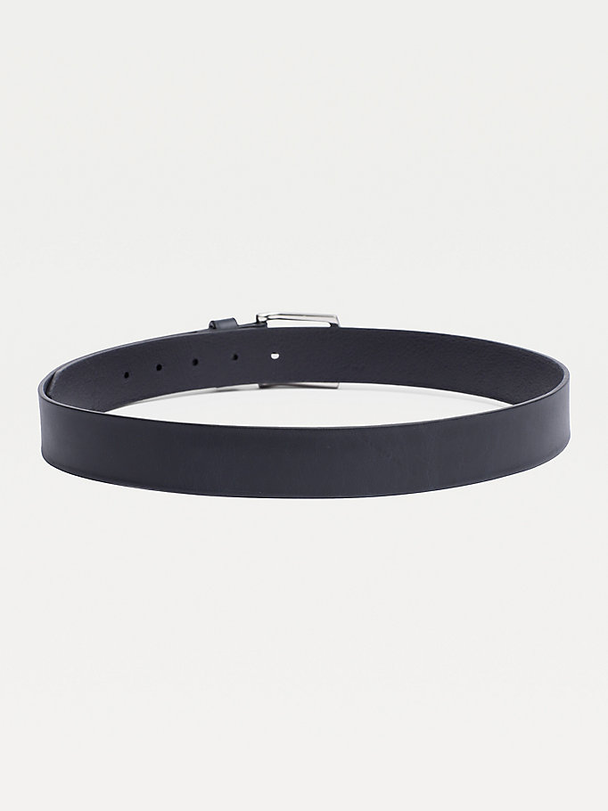 TOMMY HILFIGER Leather Belt - BLACK - TOMMY HILFIGER Torby & Akcesoria - detail image 1