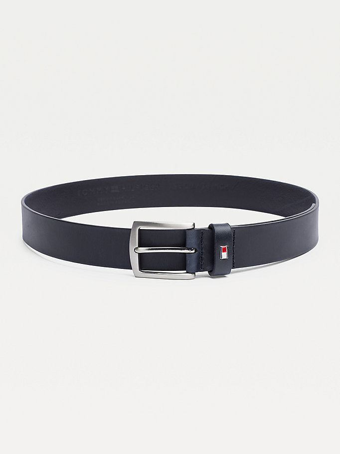 TOMMY HILFIGER Leather Belt - BLACK - TOMMY HILFIGER Torby & Akcesoria - main image