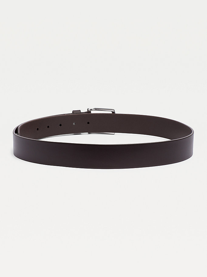 TOMMY HILFIGER Leather Belt - MIDNIGHT - TOMMY HILFIGER Torby & Akcesoria - detail image 1
