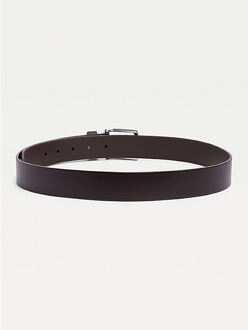 TOMMY HILFIGER Denton Rounded Buckle Leather Belt - TESTA DI MORO-EUR - TOMMY HILFIGER Belts - detail image 1