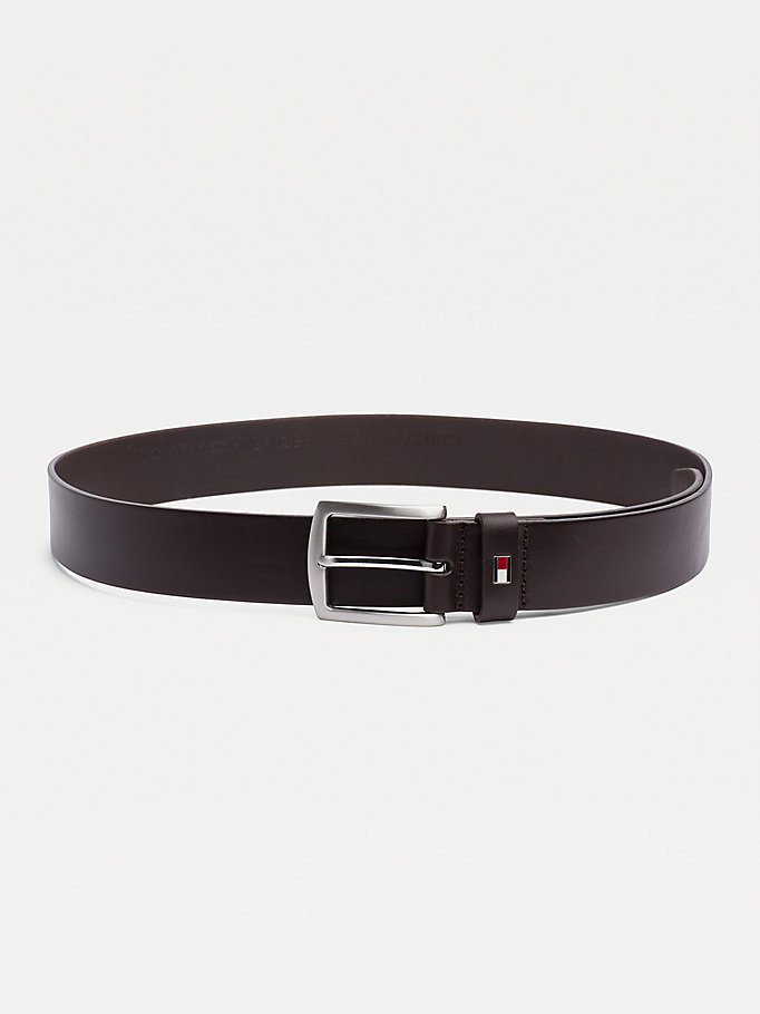 TOMMY HILFIGER Leather Belt - MIDNIGHT - TOMMY HILFIGER Torby & Akcesoria - main image