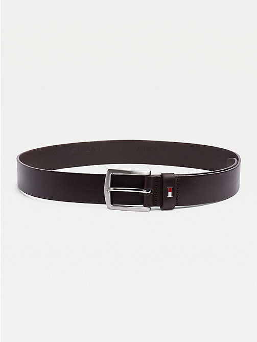 TOMMY HILFIGER Denton Rounded Buckle Leather Belt - TESTA DI MORO-EUR - TOMMY HILFIGER Belts - main image
