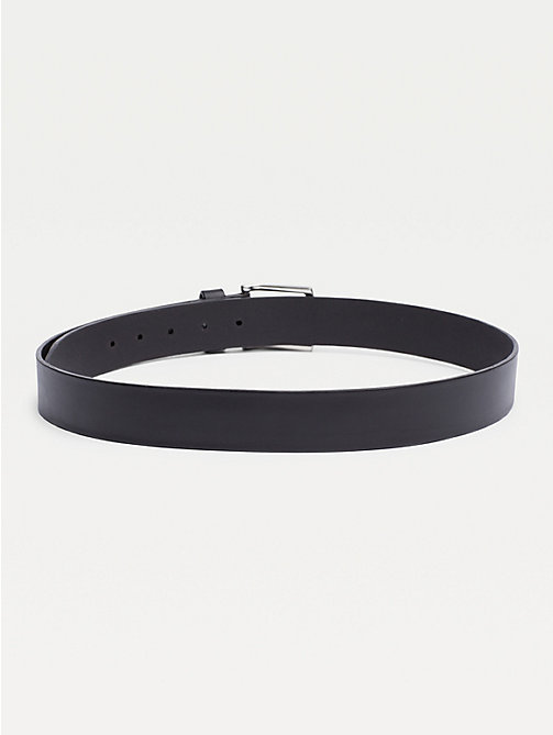 TOMMY HILFIGER Denton Rounded Buckle Leather Belt - BLACK - TOMMY HILFIGER Belts - detail image 1