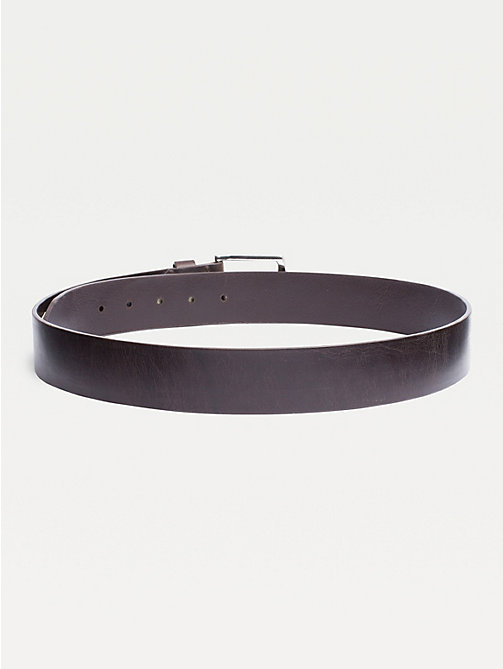 TOMMY HILFIGER Denton Flag Logo Leather Belt - TESTA DI MORO - TOMMY HILFIGER Belts - detail image 1