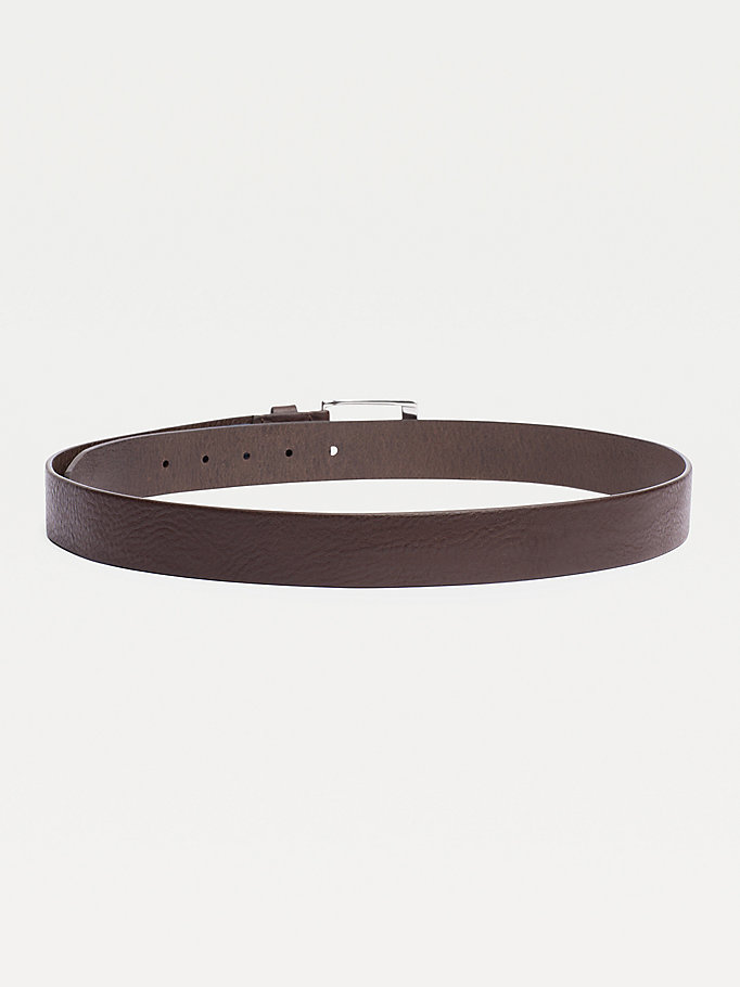 TOMMY HILFIGER Leather Belt - DARK TAN - TOMMY HILFIGER Bags & Accessories - detail image 1