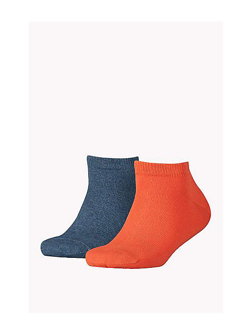 TOMMY HILFIGER 2 Pack Sneaker Socks - ORANGE - TOMMY HILFIGER Accessories - main image