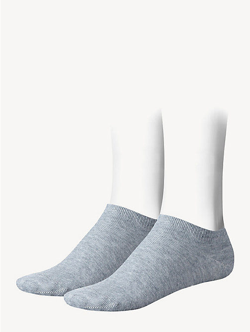 TOMMY HILFIGER 2 Pack Sneaker Socks - MIDDLE GREY MELANGE - TOMMY HILFIGER Shoes & Accessories - main image
