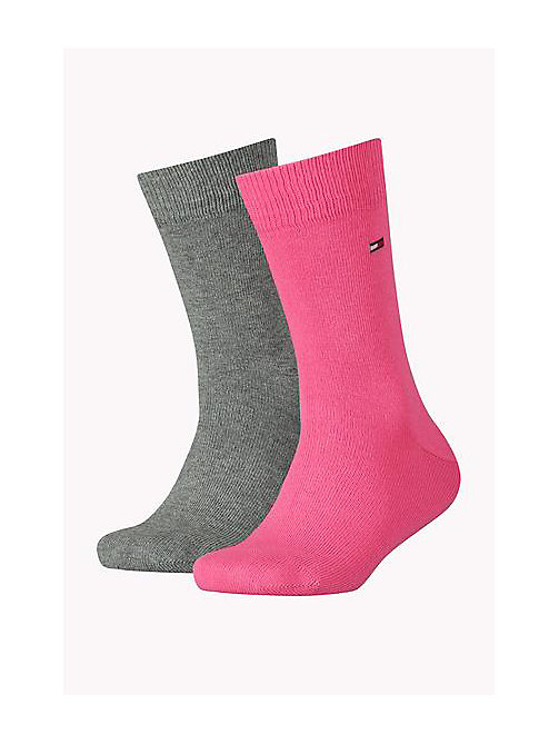 2 Pack Socks - PINK COMBO - TOMMY HILFIGER Girls - main image