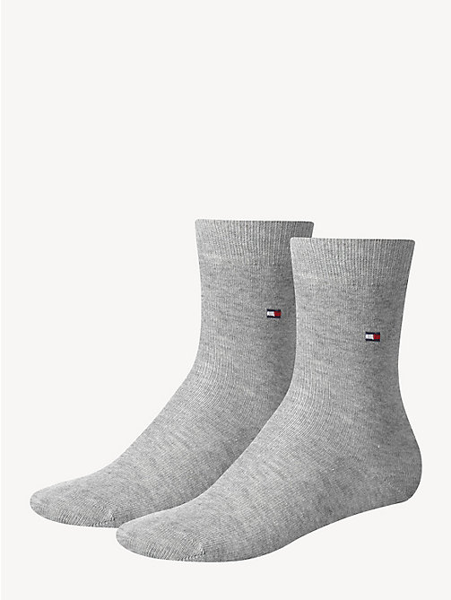 TOMMY HILFIGER 2 Pack Socks - MIDDLE GREY MELANGE - TOMMY HILFIGER Shoes & Accessories - main image