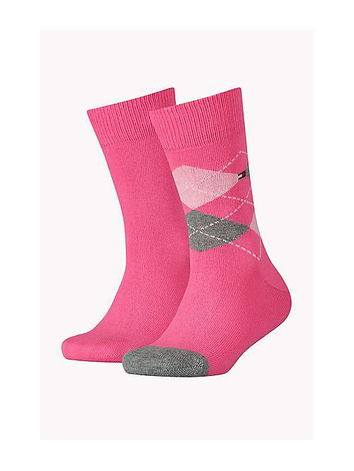 TOMMY HILFIGER 2 Pack Kids Socks - PINK COMBO - TOMMY HILFIGER Accessories - main image