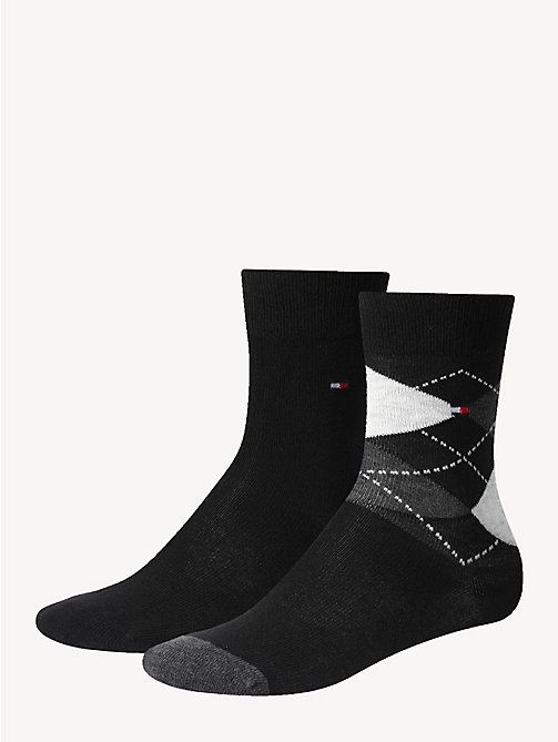 TOMMY HILFIGER 2 Pack Kids Socks - BLACK - TOMMY HILFIGER Underwear - main image