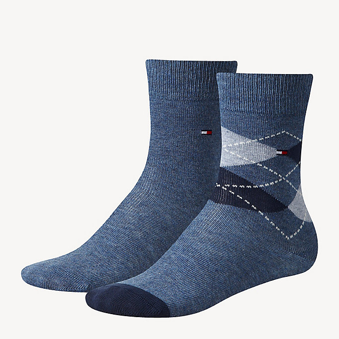 TOMMY HILFIGER 2 Pack Kids Socks - MIDNIGHT BLUE - TOMMY HILFIGER Kids - main image