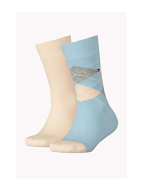 TOMMY HILFIGER 2 Pack Kids Socks - BABY BLUE - TOMMY HILFIGER Accessories - main image