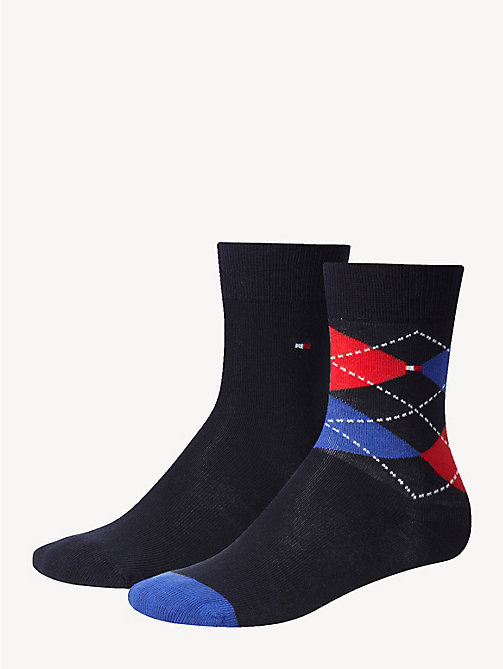 TOMMY HILFIGER 2 Pack Kids Socks - MIDNIGHT BLUE - TOMMY HILFIGER Underwear - main image