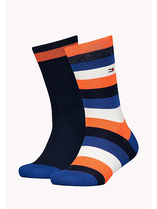 TOMMY HILFIGER 2-Pack Kids Colour-Blocked Socks - GOLDEN POPPY - TOMMY HILFIGER Underwear & Sleepwear - main image