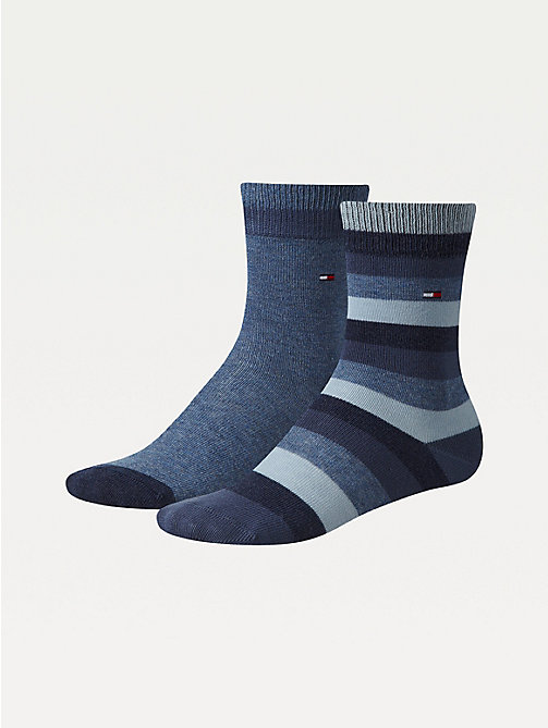 TOMMY HILFIGER 2-Pack Kids' Stripe Socks - JEANS - TOMMY HILFIGER Underwear - main image