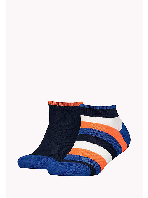 TOMMY HILFIGER 2-Pack Colour-Blocked Quarter Socks - GOLDEN POPPY - TOMMY HILFIGER Underwear & Sleepwear - main image