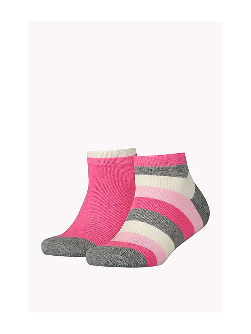 2-Pack Colour-Blocked Quarter Socks - PINK COMBO - TOMMY HILFIGER Girls - main image