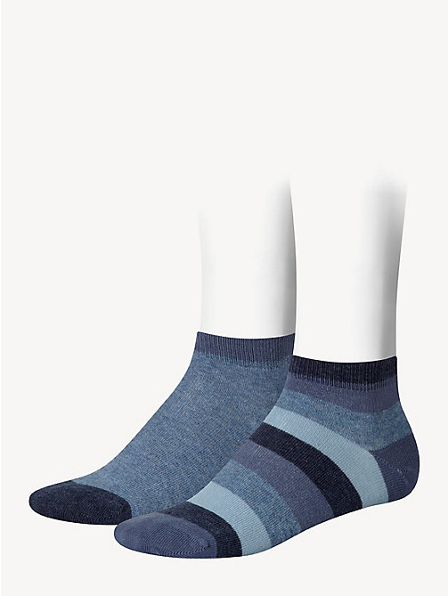 TOMMY HILFIGER 2-Pack Kids' Stripe Quarter Socks - JEANS - TOMMY HILFIGER Underwear & Socks - main image