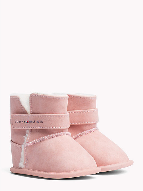 TOMMY HILFIGER Kids' Fleece-Lined Boots - PINK - TOMMY HILFIGER Shoes & Accessories - main image