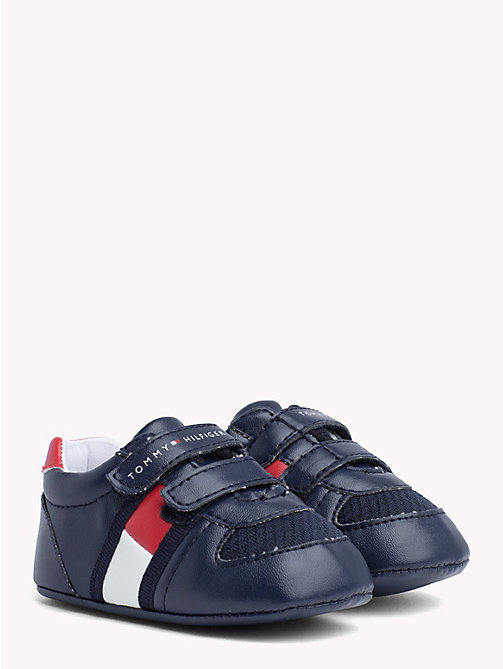 TOMMY HILFIGER Kids' Velcro Flag Shoes - BLUE / RED - TOMMY HILFIGER Shoes & Accessories - main image