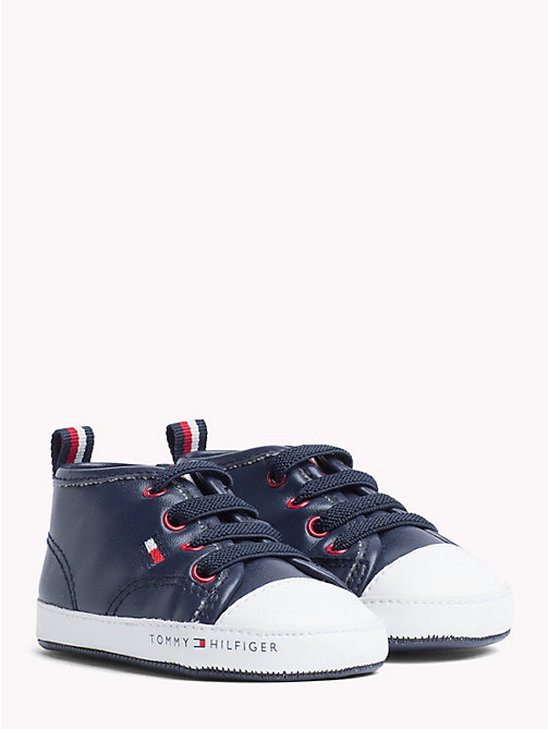TOMMY HILFIGER Kids' High-Top Flag Shoes - WHITE/BLUE - TOMMY HILFIGER Shoes & Accessories - main image
