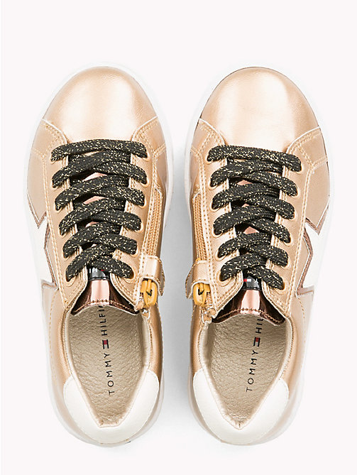 TOMMY HILFIGER Kids' Metallic Star Trainers - BRONZE - TOMMY HILFIGER Shoes & Accessories - detail image 1