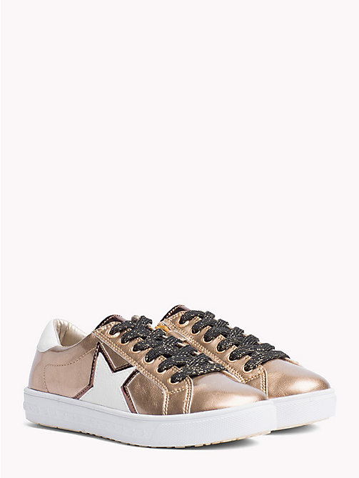 TOMMY HILFIGER Kids' Metallic Star Trainers - BRONZE - TOMMY HILFIGER Shoes & Accessories - main image