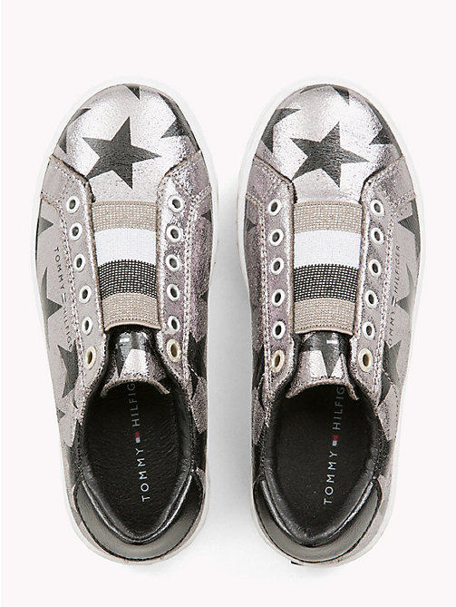 TOMMY HILFIGER Kids' Silver High-Top Trainers - DARK SILVER - TOMMY HILFIGER Shoes & Accessories - detail image 1