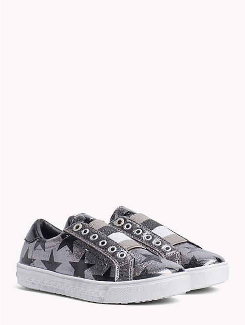 TOMMY HILFIGER Kids' Silver High-Top Trainers - DARK SILVER - TOMMY HILFIGER Girls - main image