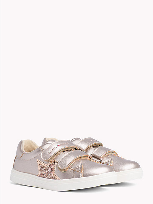 TOMMY HILFIGER Kids' Glitter Star Trainers - POWDER PINK - TOMMY HILFIGER Shoes & Accessories - main image