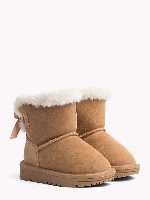 TOMMY HILFIGER Kids' Lined Suede Boots - CAMEL - TOMMY HILFIGER Shoes & Accessories - main image