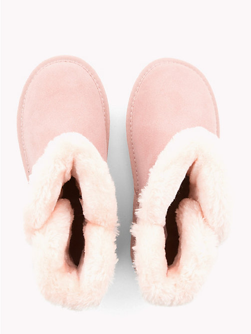 TOMMY HILFIGER Kids' Fleece Heart Boots - PINK - TOMMY HILFIGER Girls - detail image 1