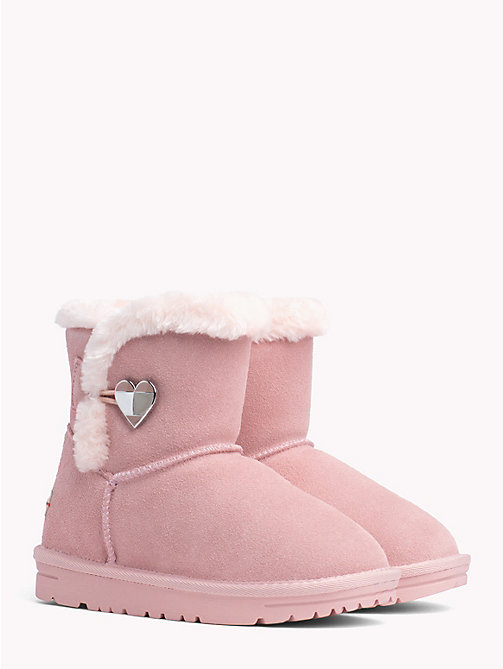 TOMMY HILFIGER Kids' Fleece Heart Boots - PINK - TOMMY HILFIGER Shoes & Accessories - main image