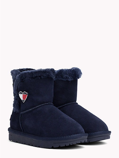 TOMMY HILFIGER Kids' Fleece Heart Boots - BLUE - TOMMY HILFIGER Shoes & Accessories - main image