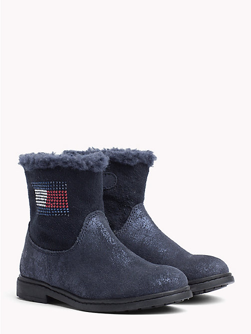 TOMMY HILFIGER Kids' Sparkle Flag Boots - BLUE - TOMMY HILFIGER Girls - main image