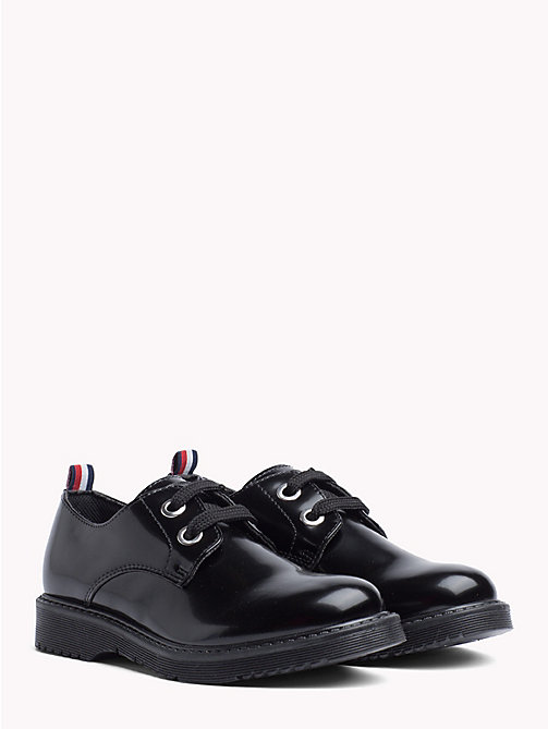 TOMMY HILFIGER Kids' Eco-Leather Lace-Up Shoes - BLACK - TOMMY HILFIGER Girls - main image