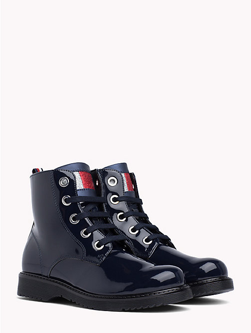 TOMMY HILFIGER Kids' Flag Tongue Boots - BLUE - TOMMY HILFIGER Shoes & Accessories - main image