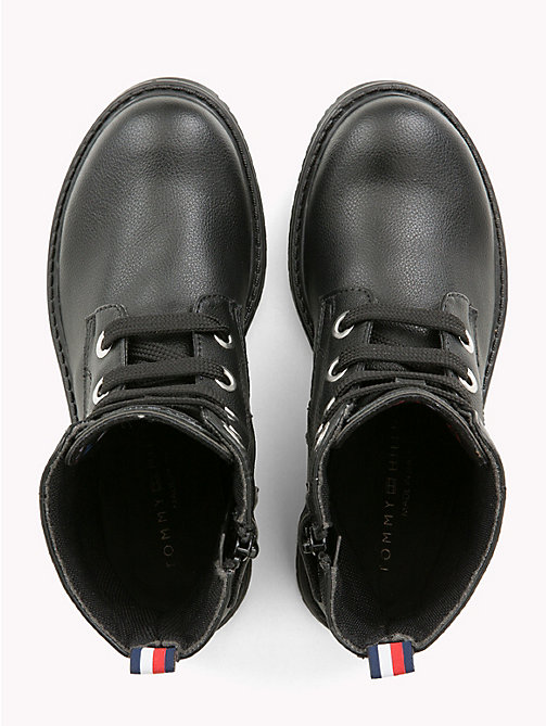 TOMMY HILFIGER Kids' Eco-Leather Biker Boots - BLACK - TOMMY HILFIGER Shoes & Accessories - detail image 1
