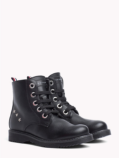 TOMMY HILFIGER Kids' Eco-Leather Biker Boots - BLACK - TOMMY HILFIGER Girls - main image