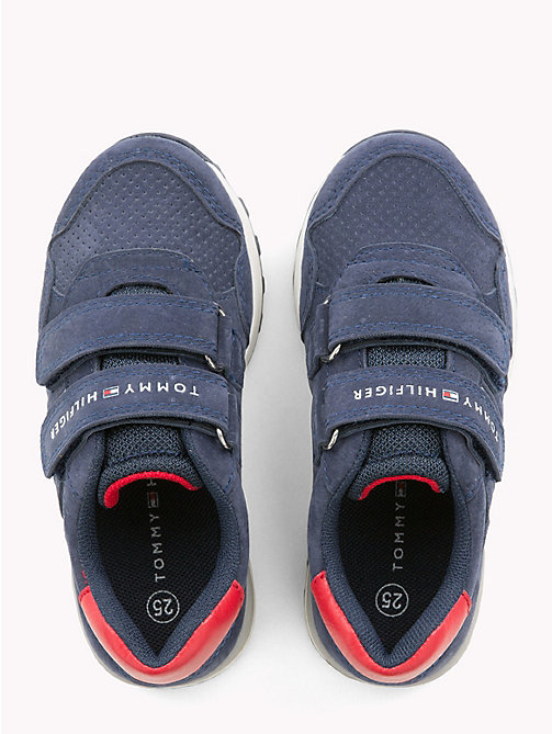 TOMMY HILFIGER Kids' Eco Leather Velcro Trainers - BLUE - TOMMY HILFIGER Boys - detail image 1