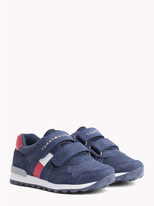 TOMMY HILFIGER Kids' Eco Leather Velcro Trainers - BLUE - TOMMY HILFIGER Shoes & Accessories - main image