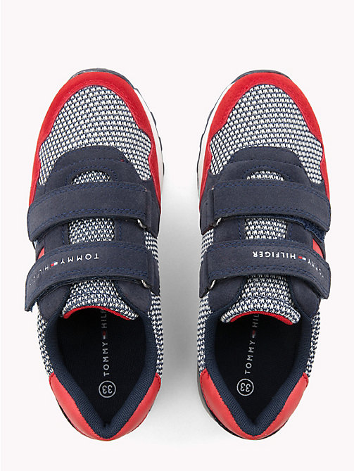 TOMMY HILFIGER Kids' Spot and Flag Trainers - RED / BLUE - TOMMY HILFIGER Shoes & Accessories - detail image 1