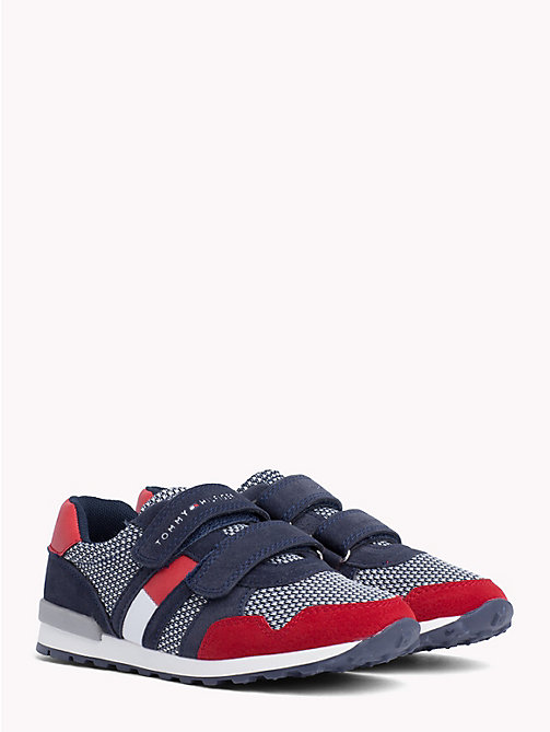 TOMMY HILFIGER Kids' Spot and Flag Trainers - RED / BLUE - TOMMY HILFIGER Shoes & Accessories - main image