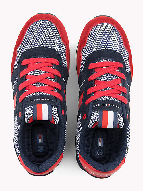 TOMMY HILFIGER Red/Blue Lace-Up Sporty Sneaker - RED / BLUE - TOMMY HILFIGER Garçons - image détaillée 1